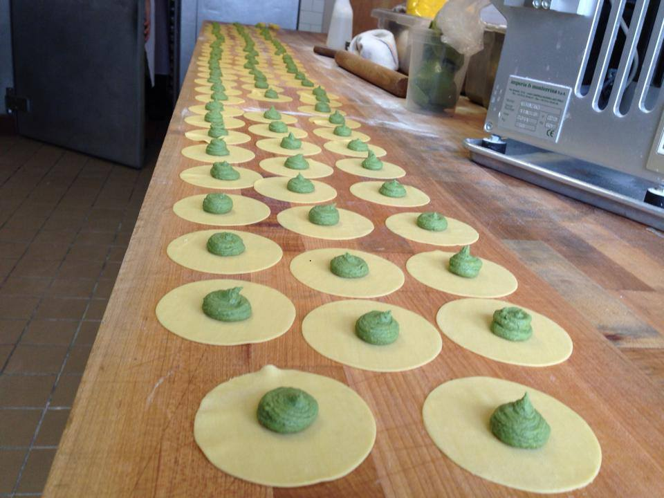 Pork tortellini artichoke cappelletti in the dough room (Photo: Flour and Water)