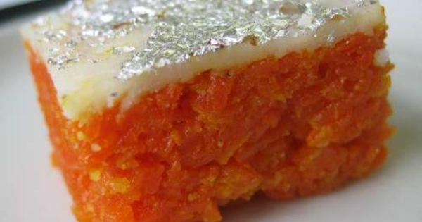 Gaajar burfi, a carrot-based Indian sweet (Photo: Anne Noyes Saini, Pinterest)